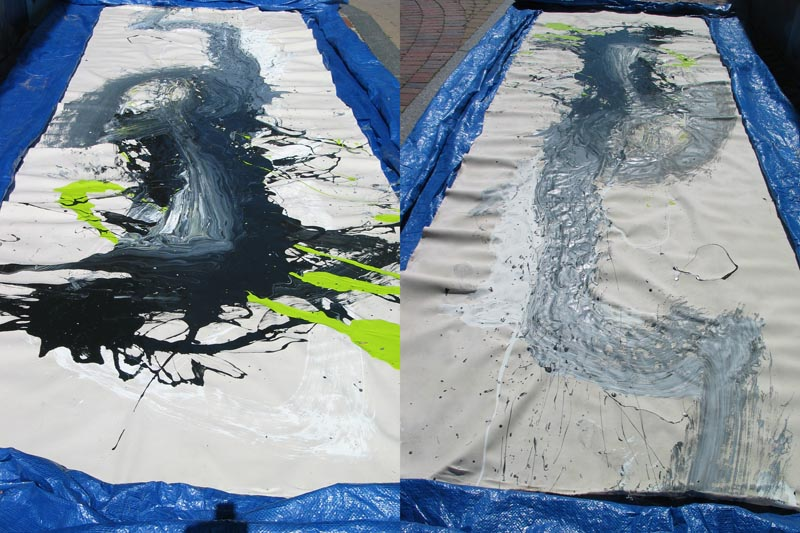 'Wu Ji (Infinity Within)' number 11 (painting performance in Boston)