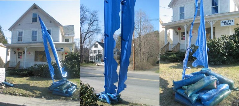 "Cai Xi installations: Outdoor fabric sculpture installation, ""Qi"" 2008 3 views"