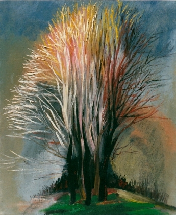 Tree, by Cai Xi Silver, November 1987, 24 by 20""