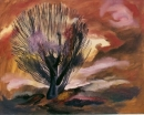 Brown Tree, by Cai Xi Silver, January 1988, 24 by 30""